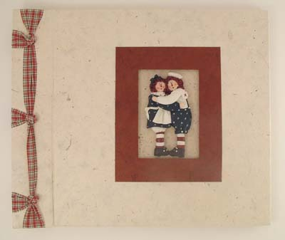 Raggedy Ann and Andy handmade scrapbook